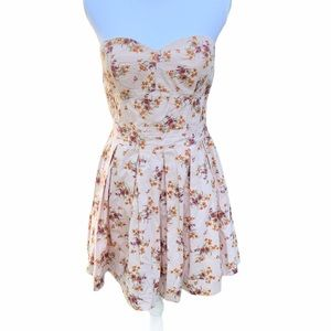 Jessica Simpson Strapless Floral Dress Size Large